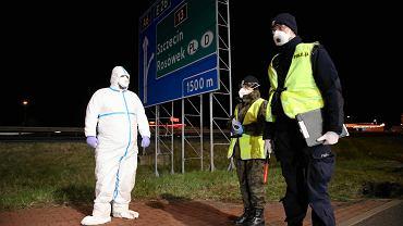 Przejście graniczne w Kołbaskowie. Posterunek kontroli sanitarnej