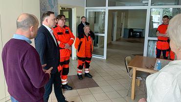 Spotkanie Prezydenta Andrzeja Dudy z lekarzami, ratownikami medycznymi i personelem medycznym w Garwolinie.