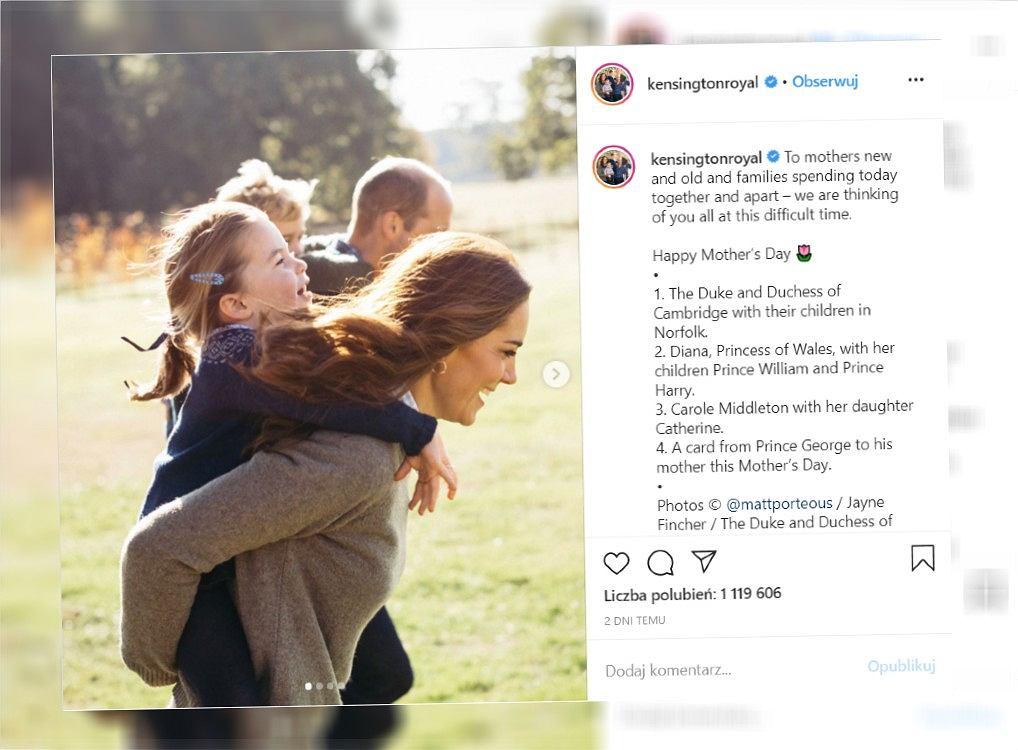 Kate i Wiliam pokazali zdjęcie z dziećmi