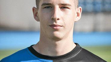 Jakub Łukowski jeden z czołowych piłkarzy drużyny juniorów Zawiszy