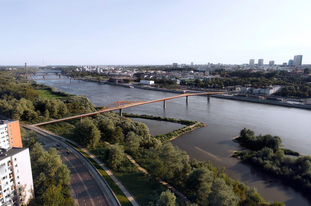 W Warszawie powstanie pieszo-rowerowa kładka nad Wisłą