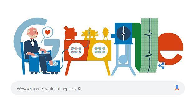Willem Einthoven w Google Doodle. Dziś 159. rocznica urodzin wynalazcy EKG