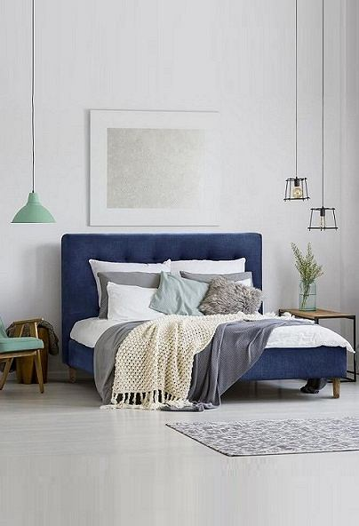 Łóżko skandynawskie z kolekcji Solrosor to połączenie elegancji i wygody
