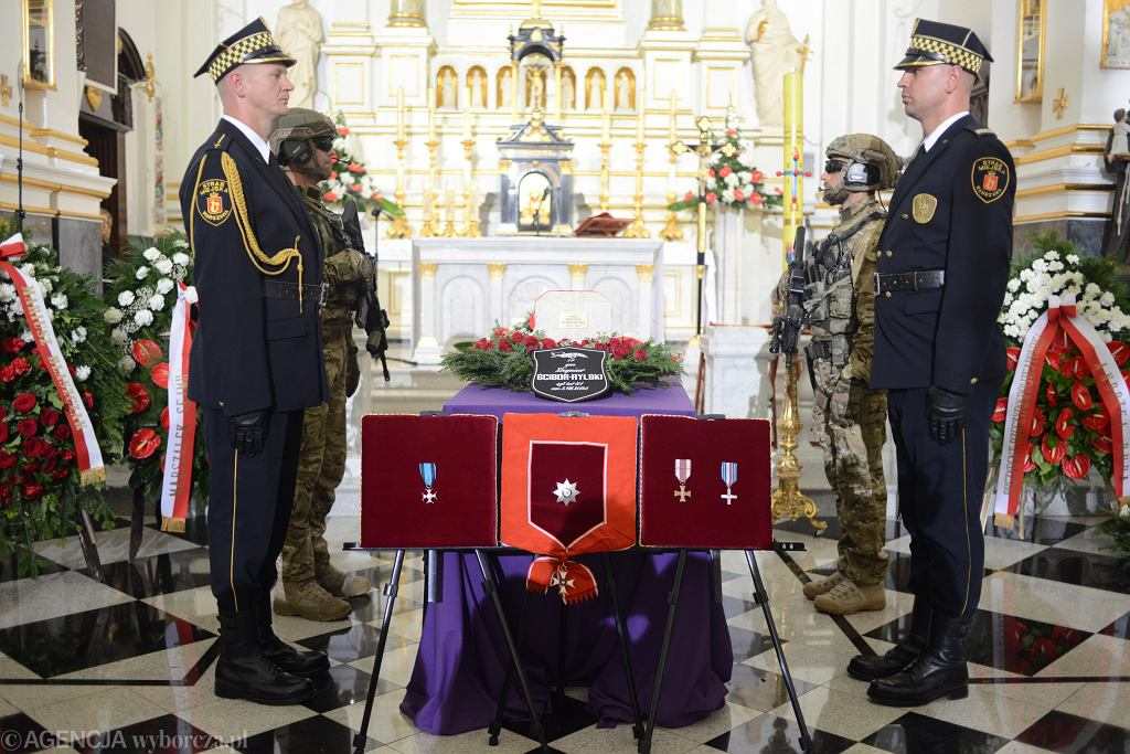 Uroczystości pogrzebowe generała Zbigniewa Ścibora-Rylskiego. Warszawa, Stare Powązki, 10 sierpnia 2018.