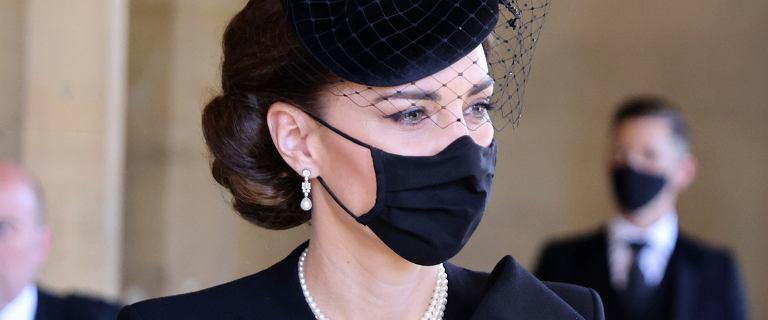 Kate na pogrzebie księcia Filipa. Królowa Elżbieta podarowała jej specjalny dodatek