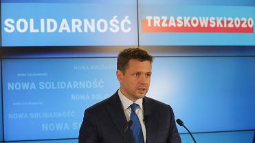 Konferencja kandydata na prezydenta Rafala Trzaskowskiego