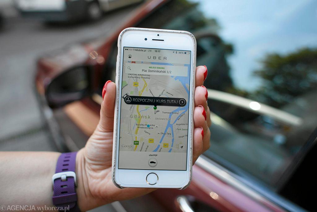 Aplikacja firmy Uber