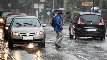 Opady deszczu w Krakowie