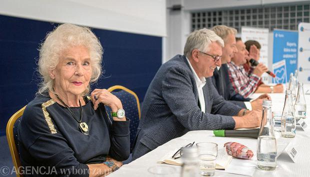 W dyskusji wzięli udział (od lewej) Wirginia Szmyt (znana jako DJ Wika), prof. dr hab. Andrzej Bochenek, Wojciech Saługa,Krzysztof Hanke oraz dr inż. Iwona Benek