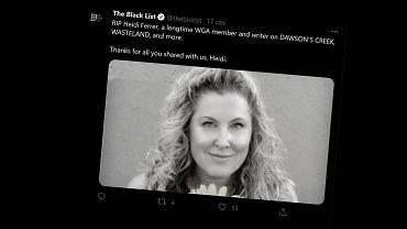 Heidi Ferrer, scenarzystak 'Jeziora marzeń' nie żyje