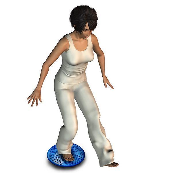 Ćwiczenia na propriocepcję na poduszce rehabilitacyjnej