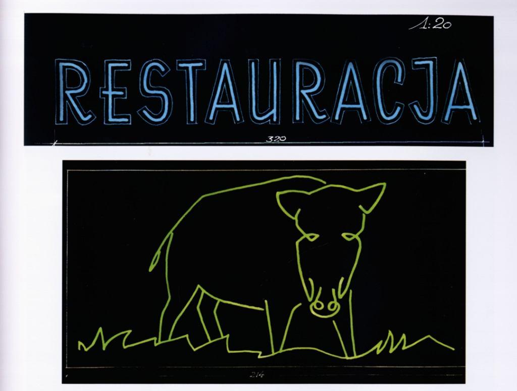 Takim neonem reklamowała się restauracja