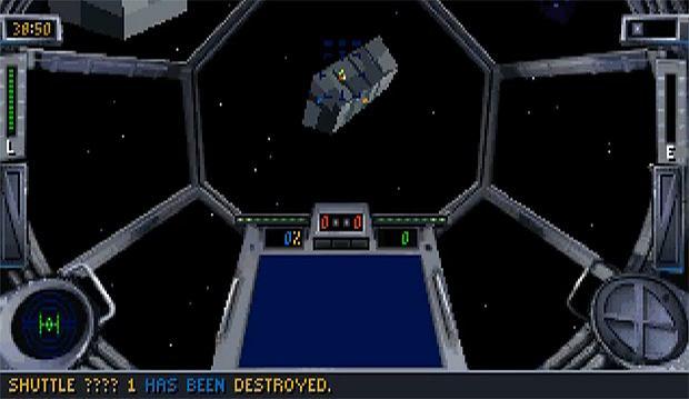 Zrzut ekranu z gry TIE Fighter
