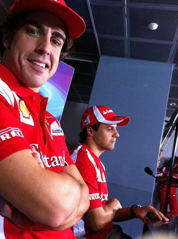 Fernando Alonso i Felippe Massa w obiektywie Marka Webbera