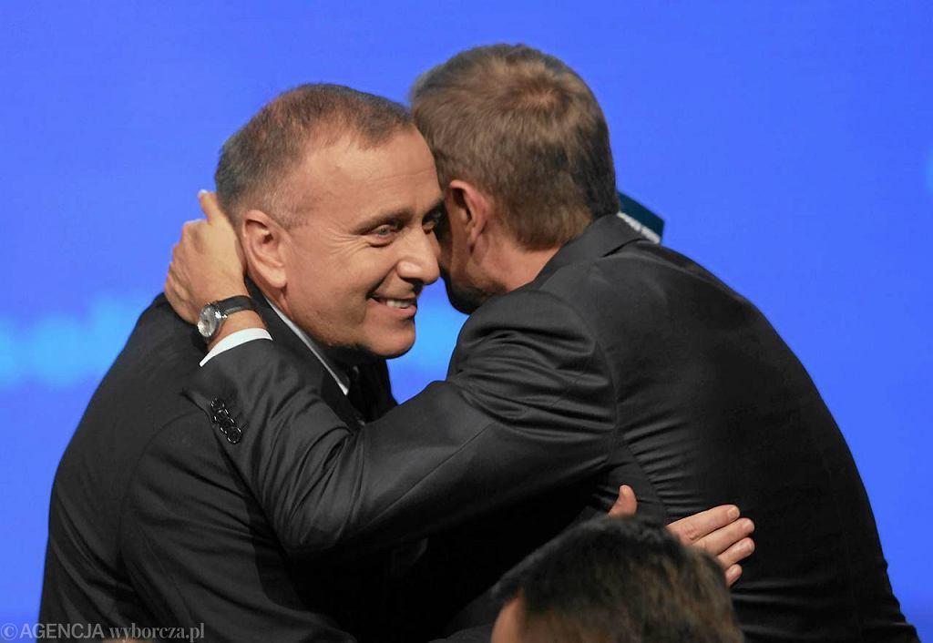 Grzegorz Schetyna i Donald Tusk podczas konwencji wyborczej PO,Warszawa 10.09.2011