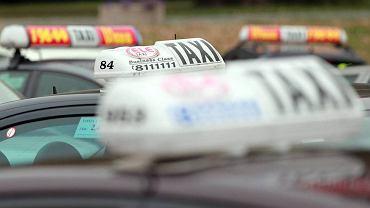 Protest taksówkarzy w Warszawie