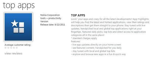 Aplikacja Top Apps