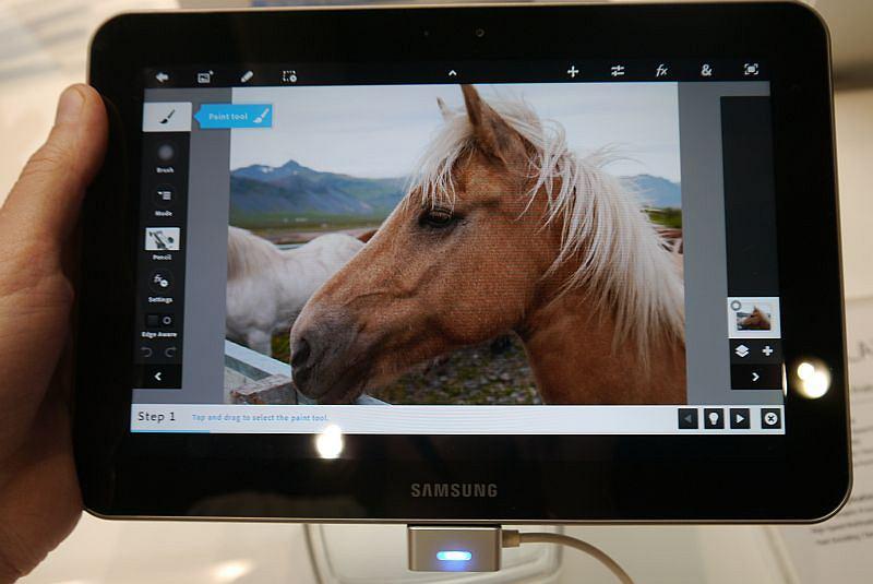 Photoshop na tablecie z Androidem