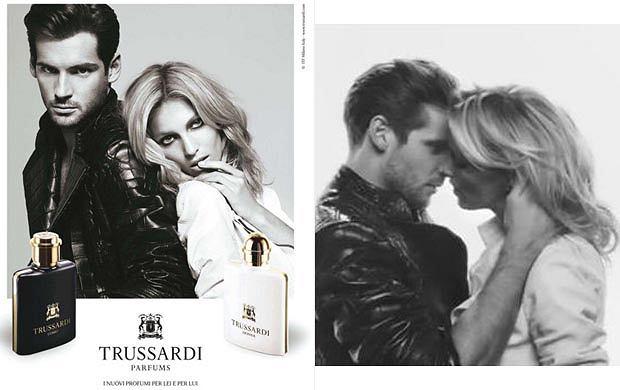 Anja Rubik w reklamie perfum Trussardi