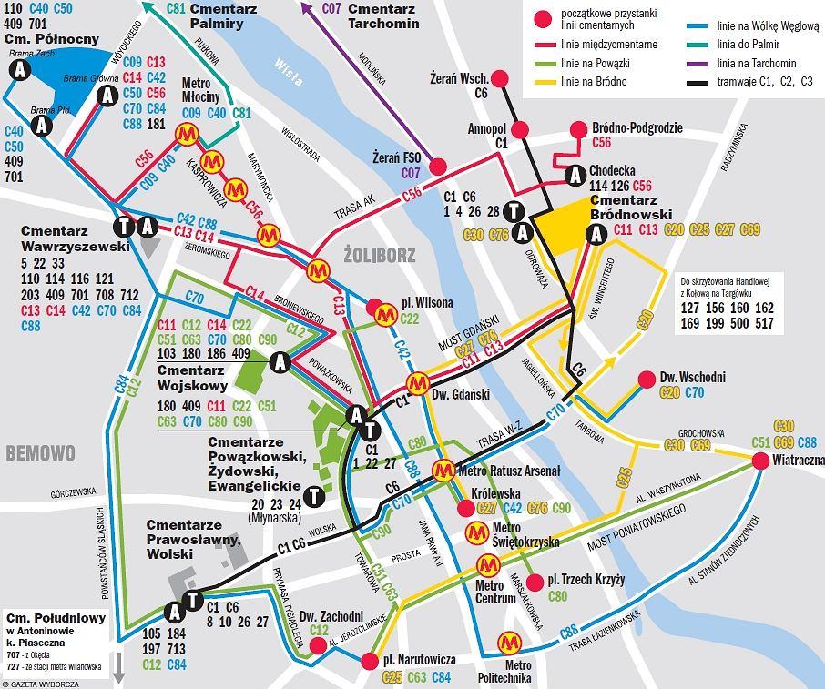 Jak Dotrzec Na Cmentarz Autobusy Tramwaje Mapa