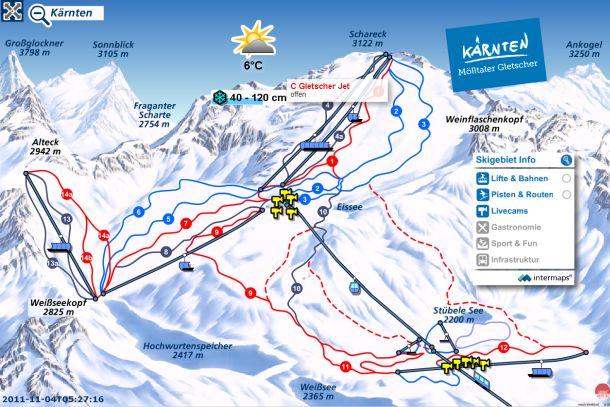 Narty w Alpach. Mölltaler - Austria