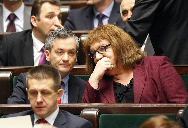 Posłowie Ruchu Palikota Robert Biedroń i Anna Grodzka