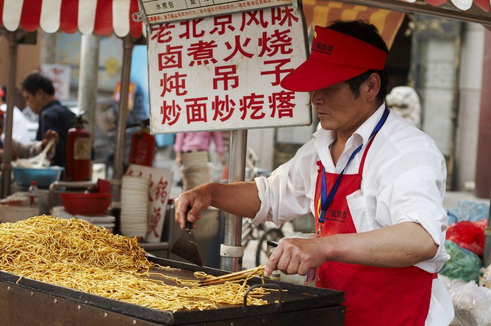Jedzenie na ulicy w Chinach. Fot. Shutterstock