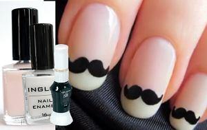 Francuski manicure na wesoło, stylizacja paznokci