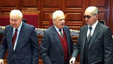 Stanisław Kania, Czesław Kiszczak i Wojciech Jaruzelski w procesie autorów stanu wojennego