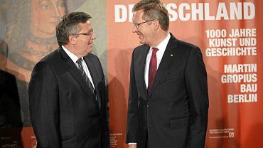 Prezydenci Polski i Niemiec wspólnie otwierają wystawę ''Obok. Polska i Niemcy. 1000 lat historii w sztuce'', Berlin, 21 września 2011 r.