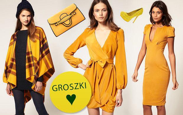 Żółte ubrania i dodatki