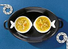 Rosół z lina z kluskami wątrobianymi - ugotuj