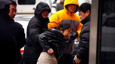 29 grudnia 2011 r. Pekin. Działaczka na rzecz praw człowieka zatrzymana przez policję