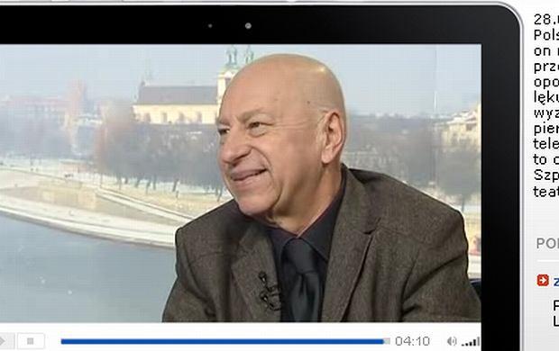Jerzy Stuhr w TVN24 w trakcie choroby