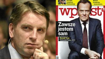 """Tomasz Lis, okładka """"Wprost"""""""