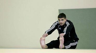 Piotr Grzelczak na treningu Lechii Gdańsk
