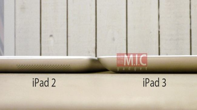 iPad 3 jednak grubszy od iPada 2?