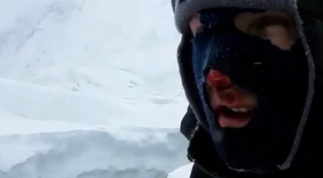 Janusz Gołąb podczas zdobywania zimą Gasherbrum I