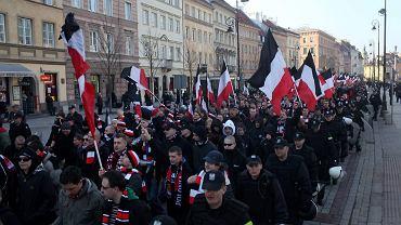 Marsz kibiców Polonii Warszawa