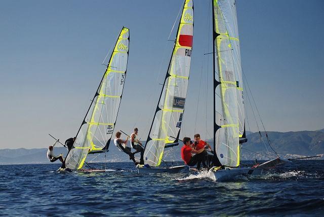 Zgrupowanie klasy 49er na Majorce