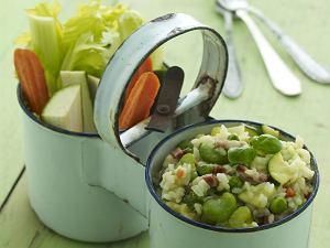 Risotto wiosenne z warzywami