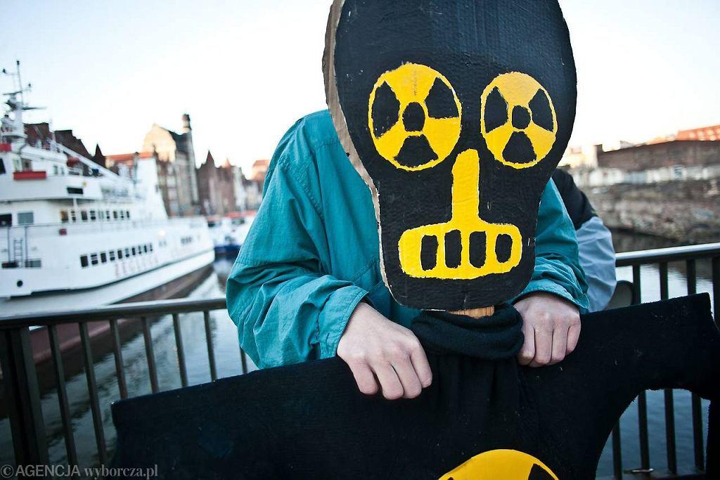 Demonstracja przeciwko budowie elektrowni atomowej na Pomorzu