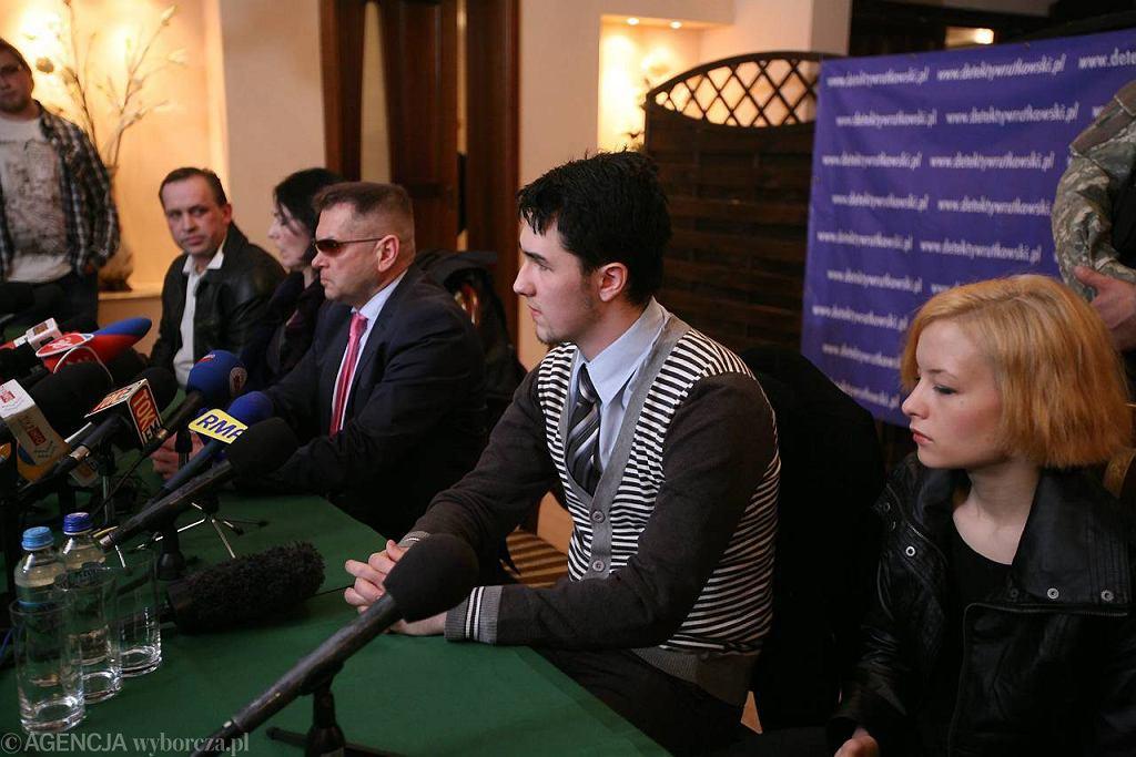 Konferencja prasowa Krzysztofa Rutkowskiego i rodziców Madzi