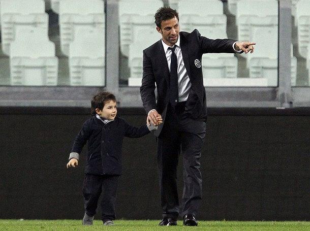 Alessandro Del Piero z synkiem Tobiasem