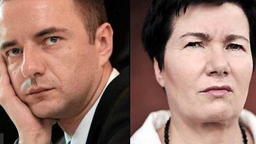 Jarosław Pucek i Hanna Gronkiewicz-Waltz