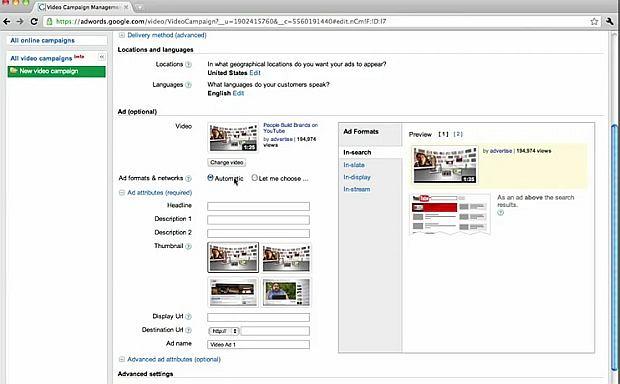 Google Adwords dla Wideo