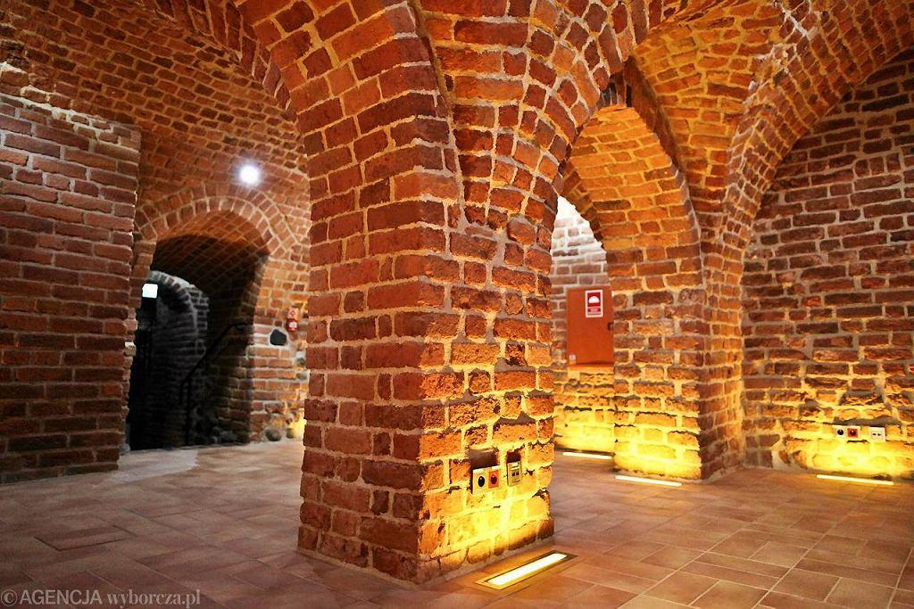 Odrestaurowane wnętrza piwnic staromiejskich