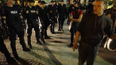 Policja interweniowała na Krakowskim Przedmieściu