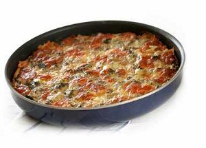Szwajcarska pizza serowa