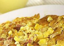 Omlet chłopski z boczkiem i ziemniakiem - ugotuj